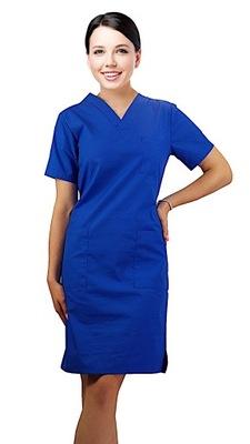 Sukienka medyczna kosmetyczna fartuch r.54 chaber