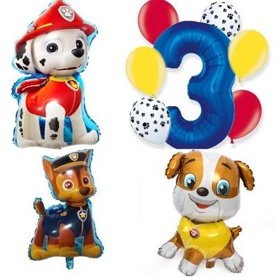 Zestaw balony Marshall Chase Rubble Psi Patrol 3