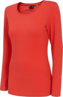 Koszulka damska 4F TSDL001 Longsleeve czerwona 3XL