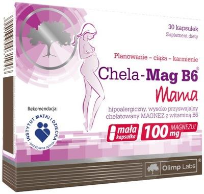 OLIMP Chela-Mag B6 MAMA 100 mg magnez 30 kapsułek
