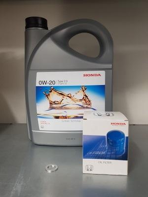 Oryginalny Olej Honda 0w20 +filtr oleju+podkładka