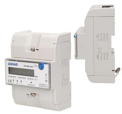 Licznik Zużycia Prądu Energii 3-Fazowy Miernik 3F