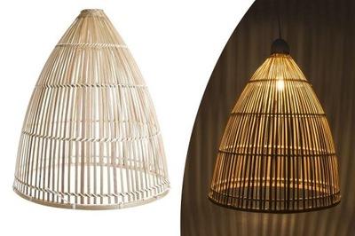 Потолочный светильник абажур Ротанг купол бохо DEcodomi