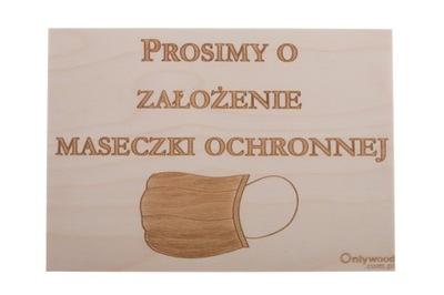 ZAŁÓŻ MASECZKĘ - Tabliczka Drewniana - Onlywood