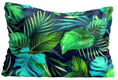 Poszewka na poduszkę liście tropik 40x70cm 3046