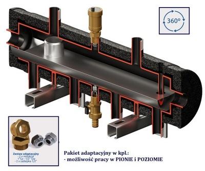 Hydraulická spojka, rozdeľovač 2DC + CONDENS 55kW