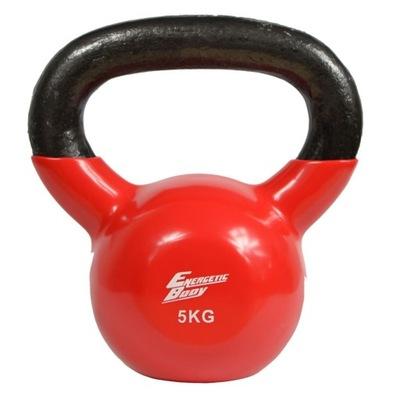 Vinylová kettlebell činka 5kg Energetic Body