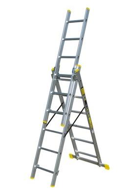 Лестница алюминиевая многофункциональный 3x6 Cert TUV