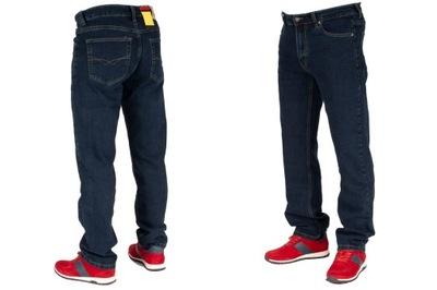 Spodnie męskie jeans W:34 90CM L:30 granat