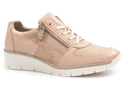półbuty RIEKER sportowe zdrowotne damski sneakersy