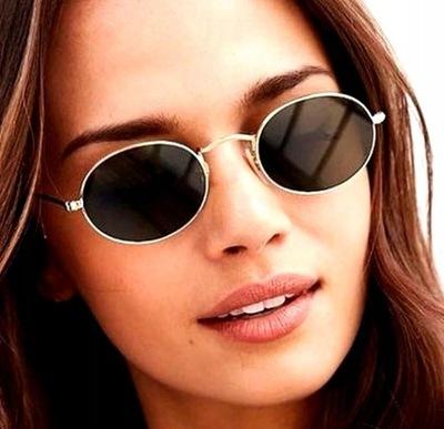 Okulary damskie metalowe LENONKI boho owalne retro