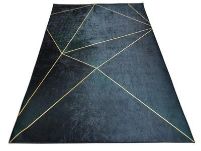Dywan DIGITAL antypoślizgowy kreski zieleń 120x180