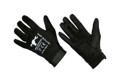 Rękawice ze skóry syntetycznej z rzepem rozm.8