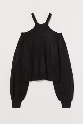 Sweter cold shoulder H&M r.S
