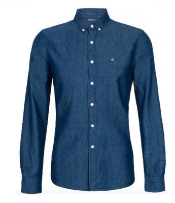 Koszula Calvin Klein slim/miękki ciemny jeans r.S