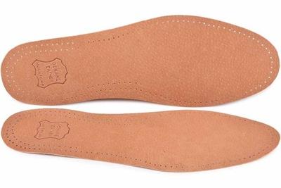 SKÓRZANE wkładki do butów PRZECIWPOTNE SKÓRA r.43