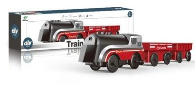 Kolejka eletryczna na baterie pociąg +dwa wagony