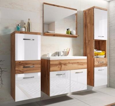 комплект подвесных мебели для ванной комнаты шкаф стойки