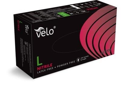 Rękawice rękawiczki nitrylowe L 100szt Velo black
