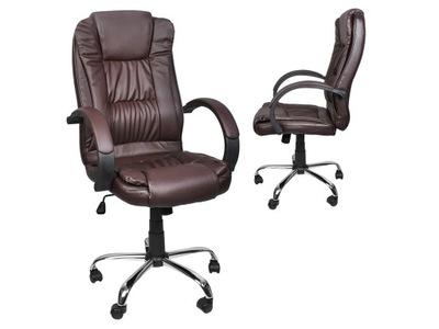 Fotel Biurowy Obrotowy Krzesło Biurowe Chrom Tilt