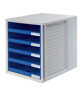 Zestaw 5 szufladek CabinetSet A4 niebieski