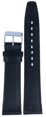 Skórzany pasek do zegarka Atlantic 19mm czarny