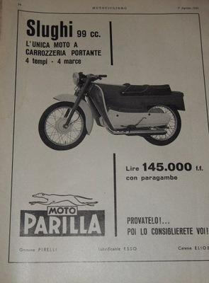 MOTO PARILL SLUGHI 99 CC. 1959.