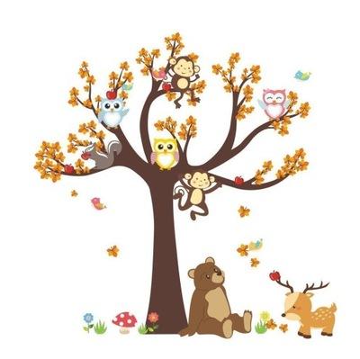 Samolepky na stenu stromov s motýľmi