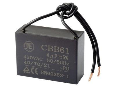 Kondensator rozruchowy 2uF 450V CBB61