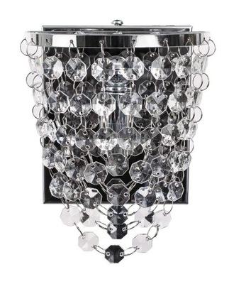 Striebro SCONCES GLAMOUR Ala crystal moderné