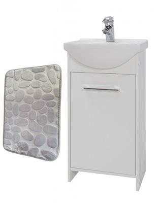 Szafka z umywalką biała 45cm