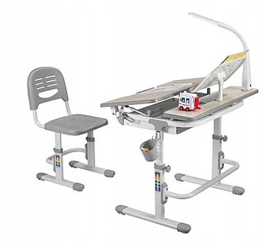 комплект регулируемые стол креслом Lavoro Грей