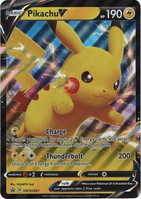 Pokemon karta - Pikachu V SWSH061 Oversized Promo