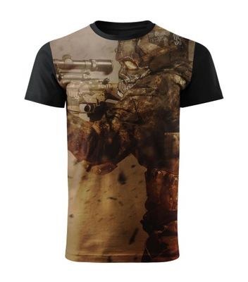 Koszulka męska t-shirt Snajper fullprint M