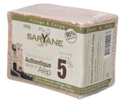 Mydło z Aleppo 5% oleju laurowego 200g - Saryane