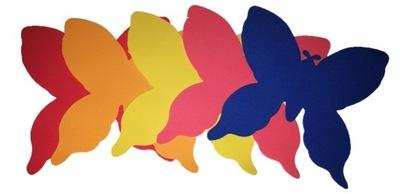 бабочки пены большой, 5 штук , микс цвета, маст