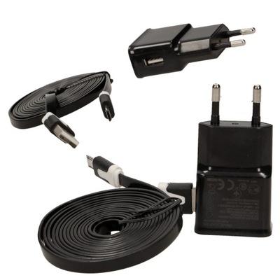 ZASILACZ GNIAZDOWY MICRO USB ŁADOWARKA Z PRZEWODEM