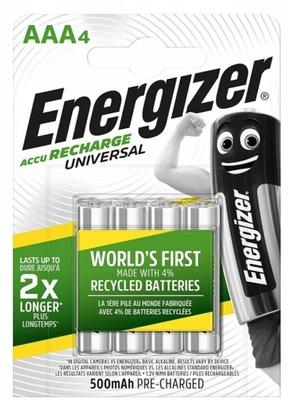 AKUMULATORKI BATERIE ENERGIZER R3 AAA 500mAh x 4