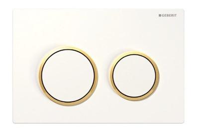 Geberit Omega20 na Tlačidlo štart biele zlato