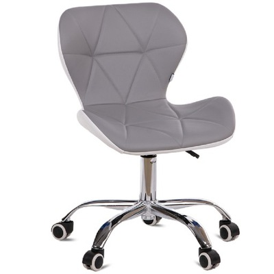 Krzesło obrotowe biurowe fotel SZARE/BIAŁE OBTUS
