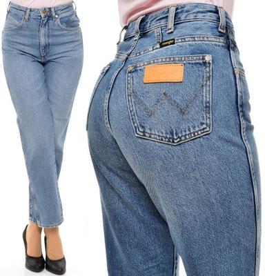WRANGLER spodnie HIGH blue SEASONAL MOM W31 L32