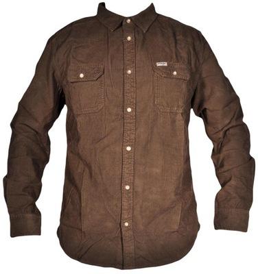 WRANGLER koszula sztruks LS 2PKT FLAP SHIRT L 40