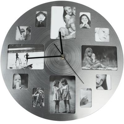металлический часы instagram с кадрами на фото-40см