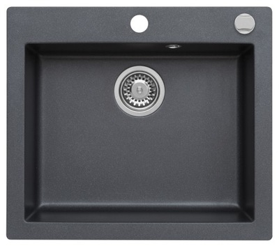 MODERNO SINK GRANITE ANNIE 60 BLACK MET POP-UP
