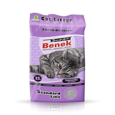 Super Benek Lavender 25L podstielka pre mačky 24H!