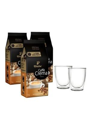 Kawa Tchibo Caffé Crema Intense 3kg + szklanki