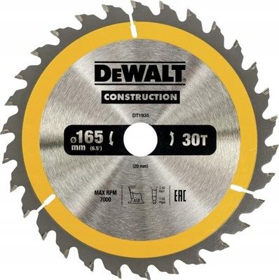 DeWALT DT1935 tarcza piła do drewna 165mm 30z/20mm