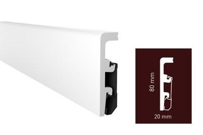 Listwa podłogowa biała Vega P0810, Arbiton, 8 cm
