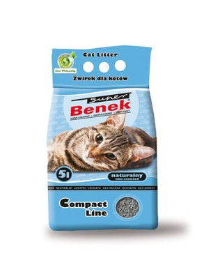 SUPER BENEK Compact Naturalny 10l żwirek dla kota