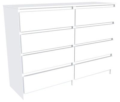 Комод 120см 8 выдвижных ящиков шкаф журнальный столик Белый ???
